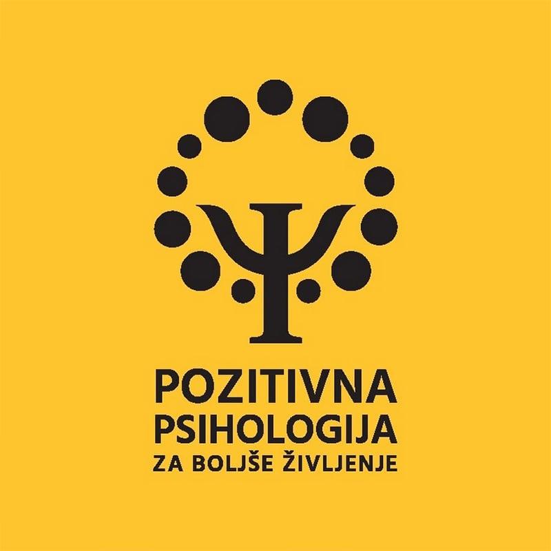 drevo z besedilom pozitivna psihologija na rumeni podlagi