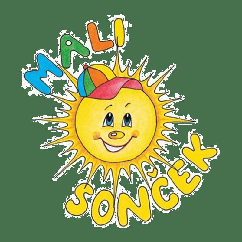 Ilustracija sončna z napisom mali sonček